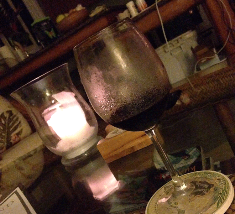 nighttime wine in puna